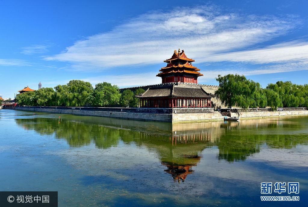 北京:蓝天白云美如画