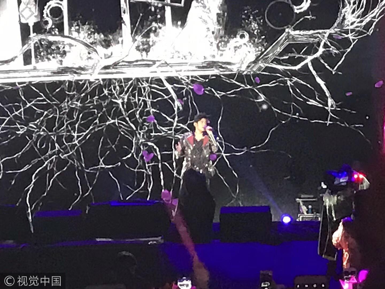 """周杰伦南昌开唱人气爆表 演唱会现场变""""紫色的海洋"""""""