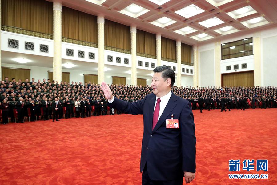 习近平等领导同志亲切会见出席党的十九大代表、特邀代表和列席人员