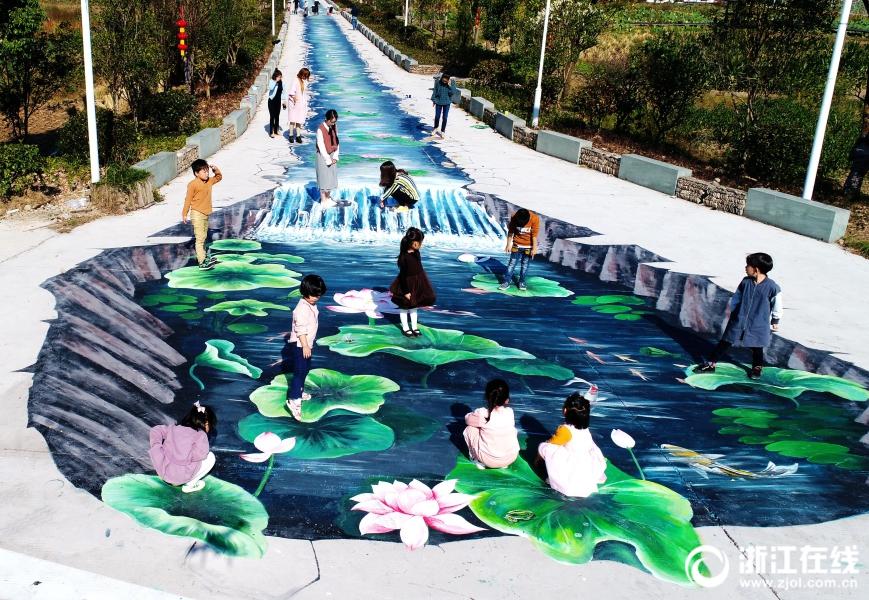 仙居:手绘3D景观装扮美丽乡村路