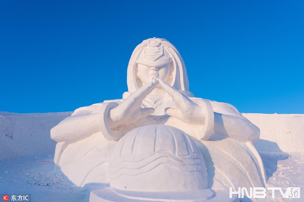 哈尔滨冰雪大世界建世界首个《王者荣耀》冰雪主题景区 帅到没朋友(组图)
