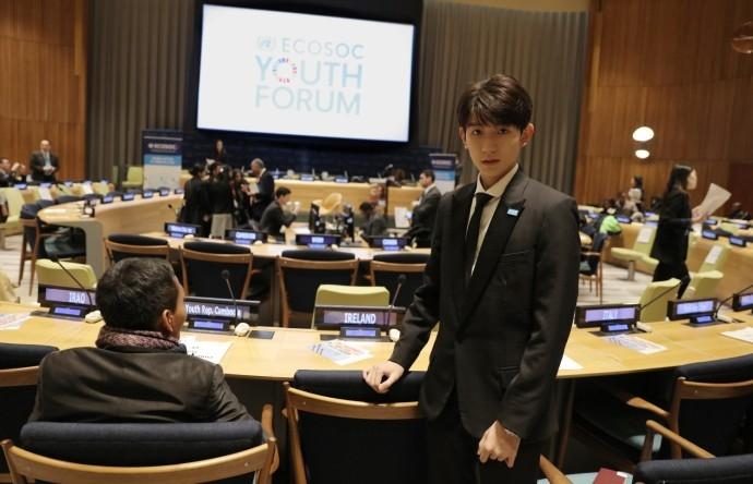 王源出席联合国青年论坛 展中国青年精神面貌(组图)