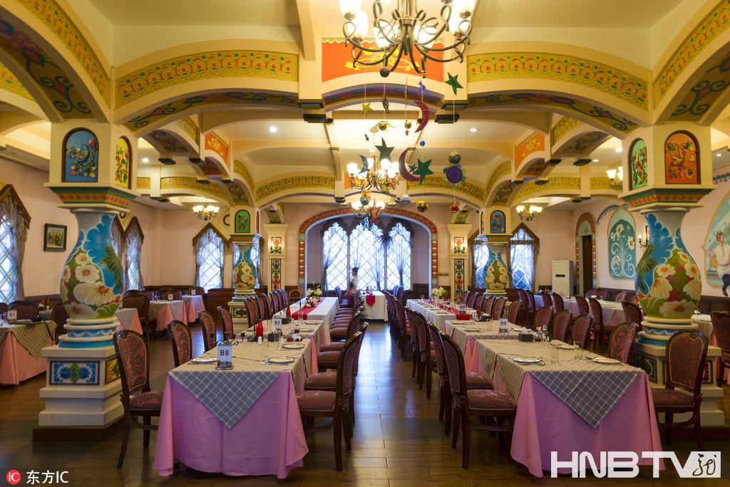 国内最美的俄式西餐厅 黑龙江哈尔滨伏尔加庄园金环西餐厅