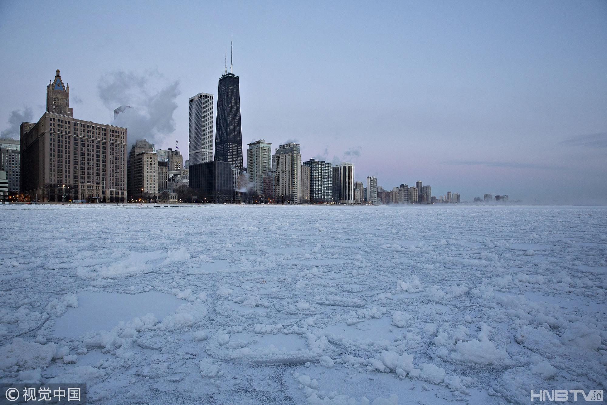 美国多地遭遇极寒天气