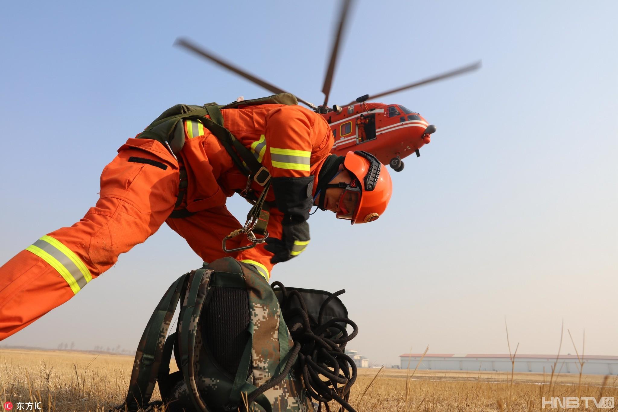 黑龙江省森林消防队伍加强救援训练备战春季防火(组图)