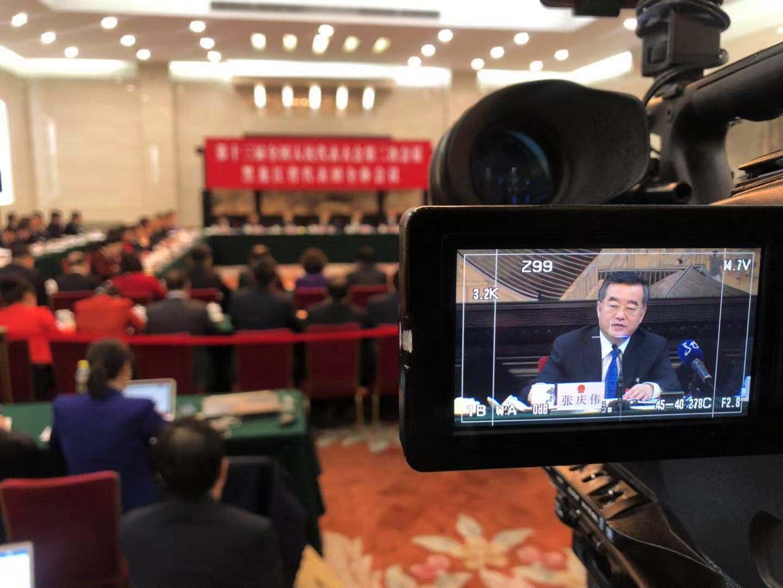 黑龙江代表团全体会议向媒体开放(组图三)