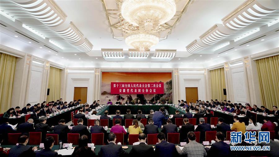 安徽代表团全体会议向媒体开放