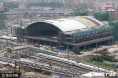 哈尔滨火车站北站房建设大部分完工(组图)