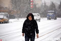 黑龍江漠河迎降雪最低氣溫-8℃ 游客在雪中漫步(組圖)
