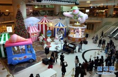 香港圣诞气氛渐浓(组图)