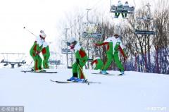 滑雪度假渐成时尚 哈尔滨一雪场日均接待游客超千人(组图)