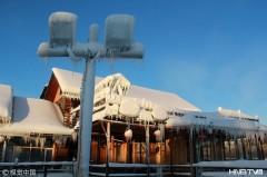 中国最北小镇-40℃极寒 桌椅板凳房屋成冰坨(组图)