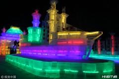哈尔滨兆麟公园冰灯游园会试开园