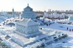 哈尔滨:游客东北过大年 冰雪中欢度春节(组图)