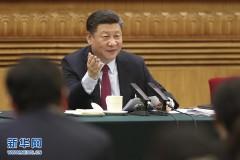 习近平参加山东代表团审议(组图)