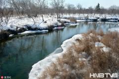 黑龙江冬天的温泊风光