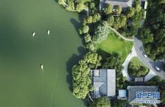 鸟瞰西湖美景