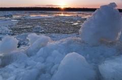 黑龙江呼玛:跑冰排景象引游人
