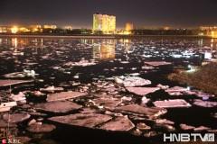 黑龙江黑河段呈现大量冰排即将恢复夏季明水期通航