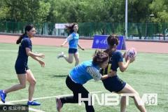 黑龙江省大学生橄榄球锦标赛开赛(组图)