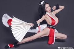 网红嫩模孟晓艺cos不知火舞 身材劲爆
