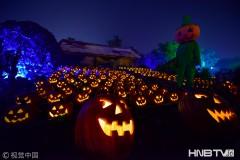 天津方特举办万圣节活动 各种鬼怪、南瓜灯齐上阵