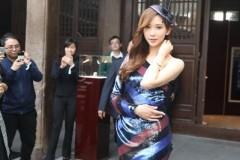 林志玲亮片包臀美裙秀香肩性感 气质优雅