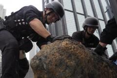 香港警方成功处置在湾仔工地地盘发现的第三枚炸弹