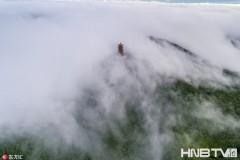 兴凯湖多雨刮起北风 蜂蜜山现云海奇观 (组图)
