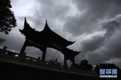 """江苏扬州:台风""""摩羯""""擦肩过"""