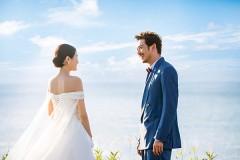 """""""小包总""""杨烁结婚照浪漫温馨  海岛上谱写爱的篇章"""