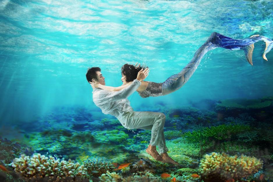 王鸥变 美人鱼 明道贴身守护唯美动人两人续约继续交往甜蜜升温 明星